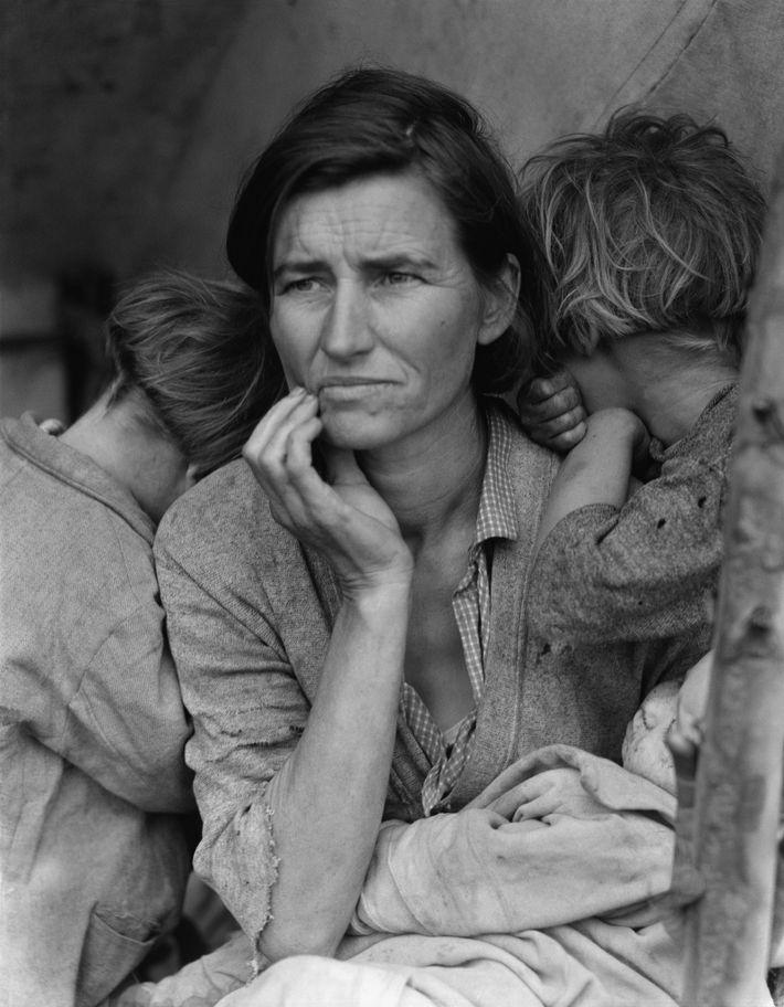 Madre migrante, Dorothea Lange, Wikimedia Commons
