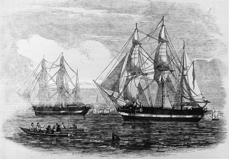 En una expedición liderada por Sir John Franklin a mediados del siglo XIX, el H.M.S. Erebus ...
