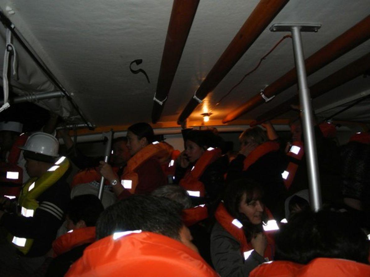 Pasajeros del Costa Concordia