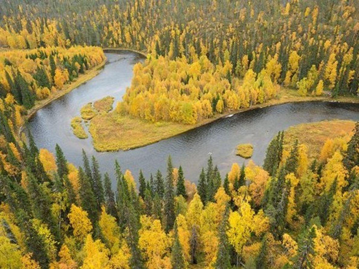 Río Kitkajoki, Finlandia