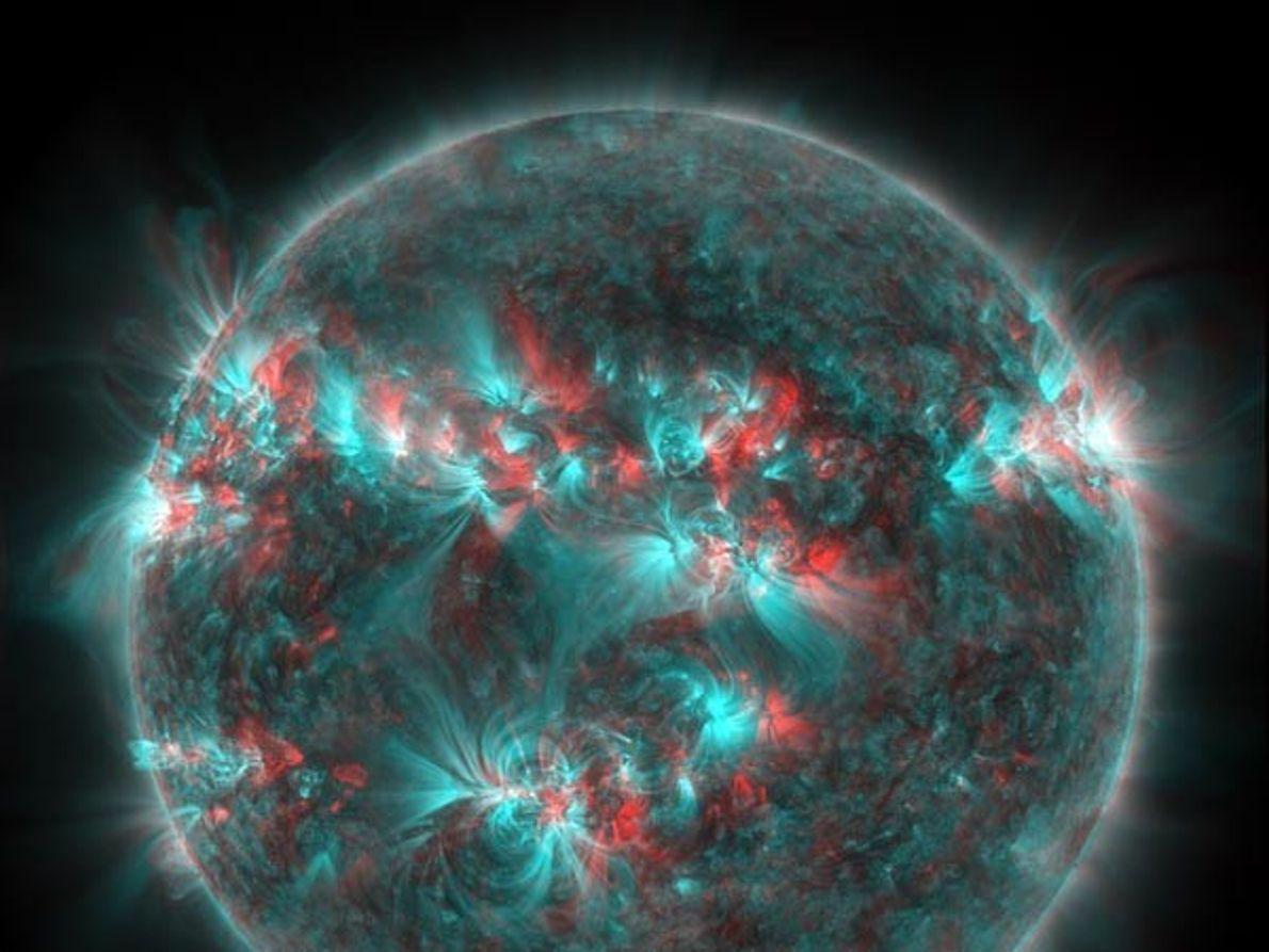 Llamarada solar en 3D