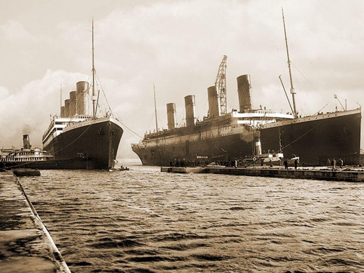 El Olympic y el  Titanic