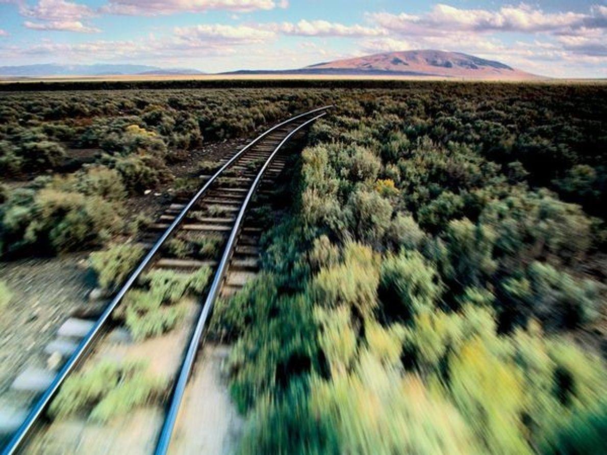 Vías del tren, frontera entre Nuevo México y Colorado