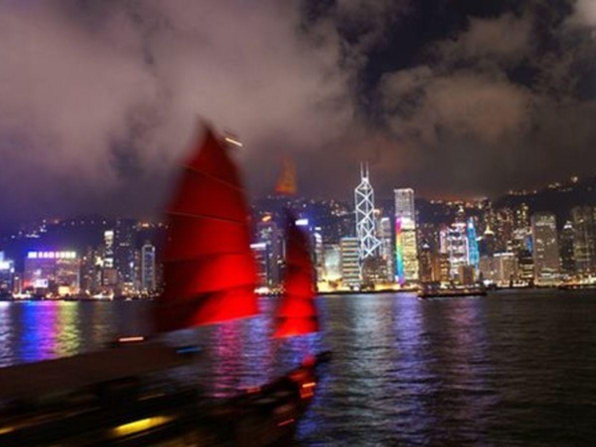Paisaje urbano de Hong Kong, China