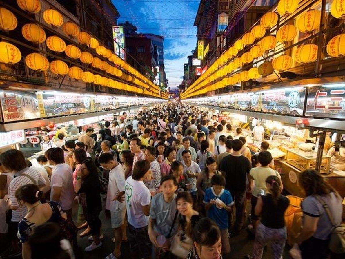 Mercado nocturno de Miao, Taiwán