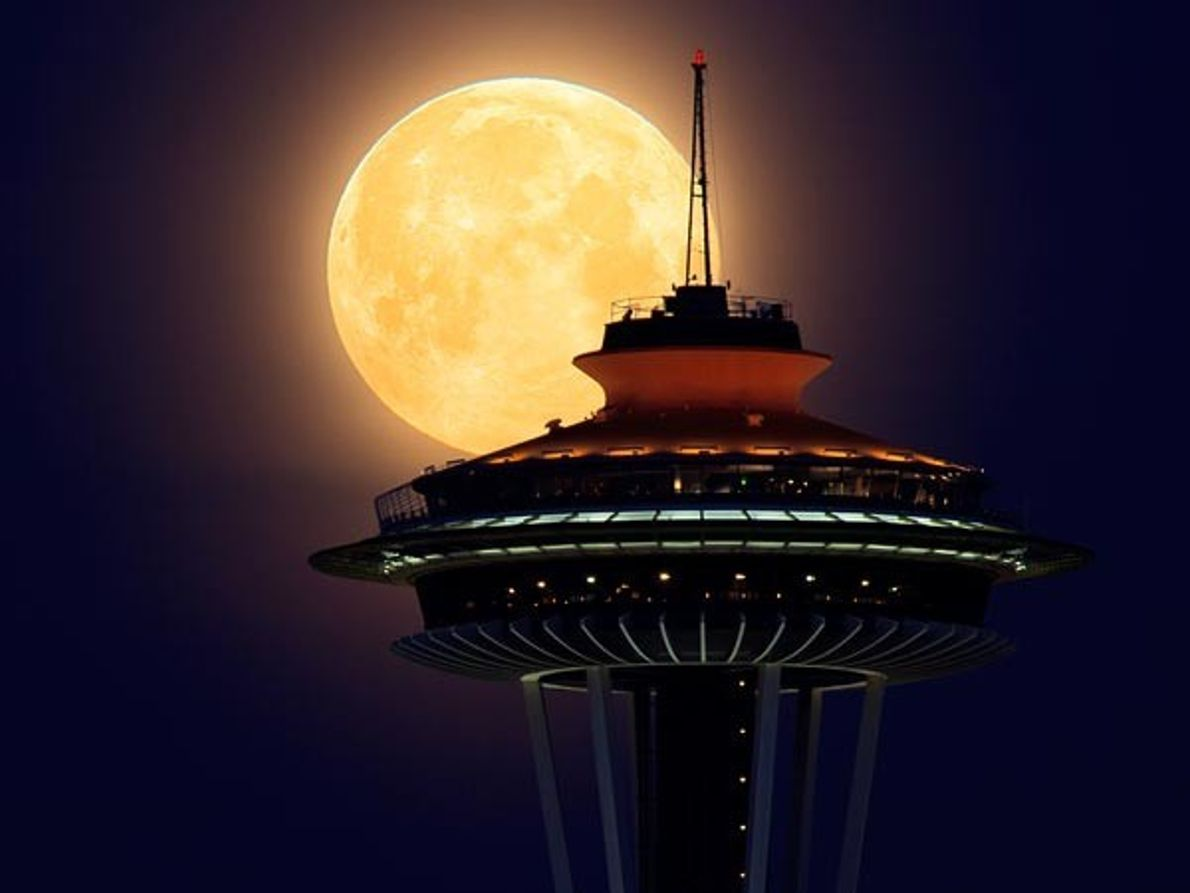 Súper Luna en Seattle