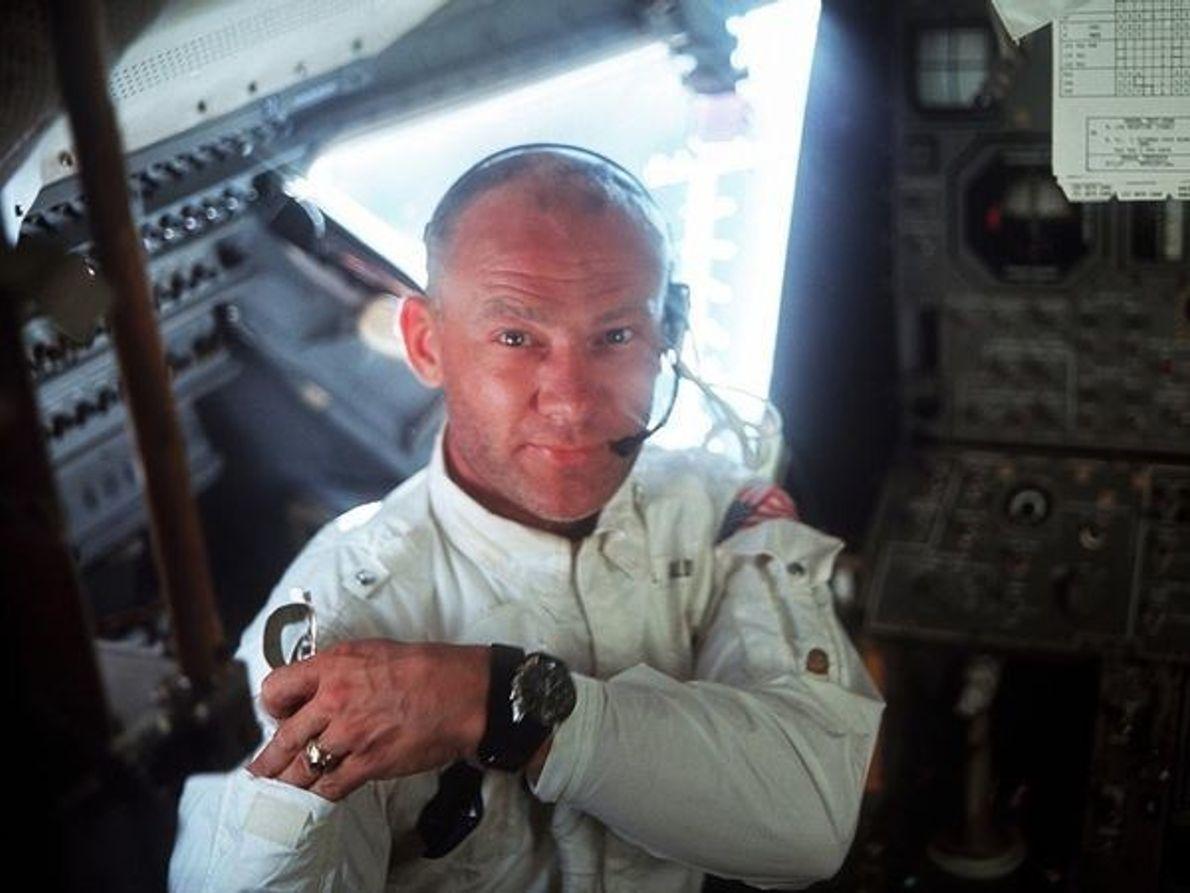 El piloto Buzz Aldrin
