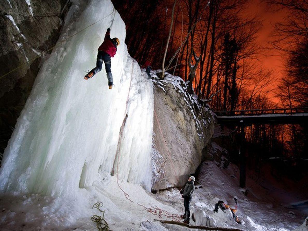 Escalada en hielo, Croacia