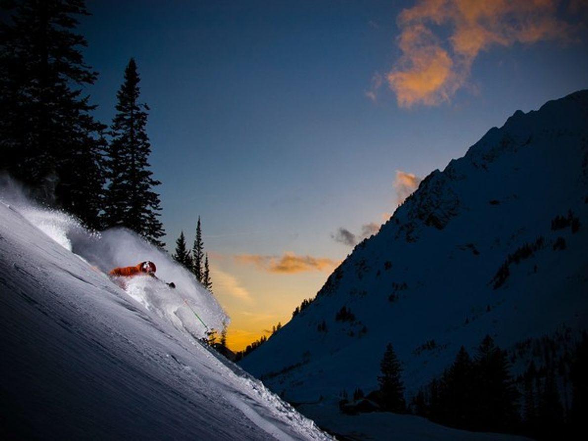 Puesta de sol, el Monte Everest