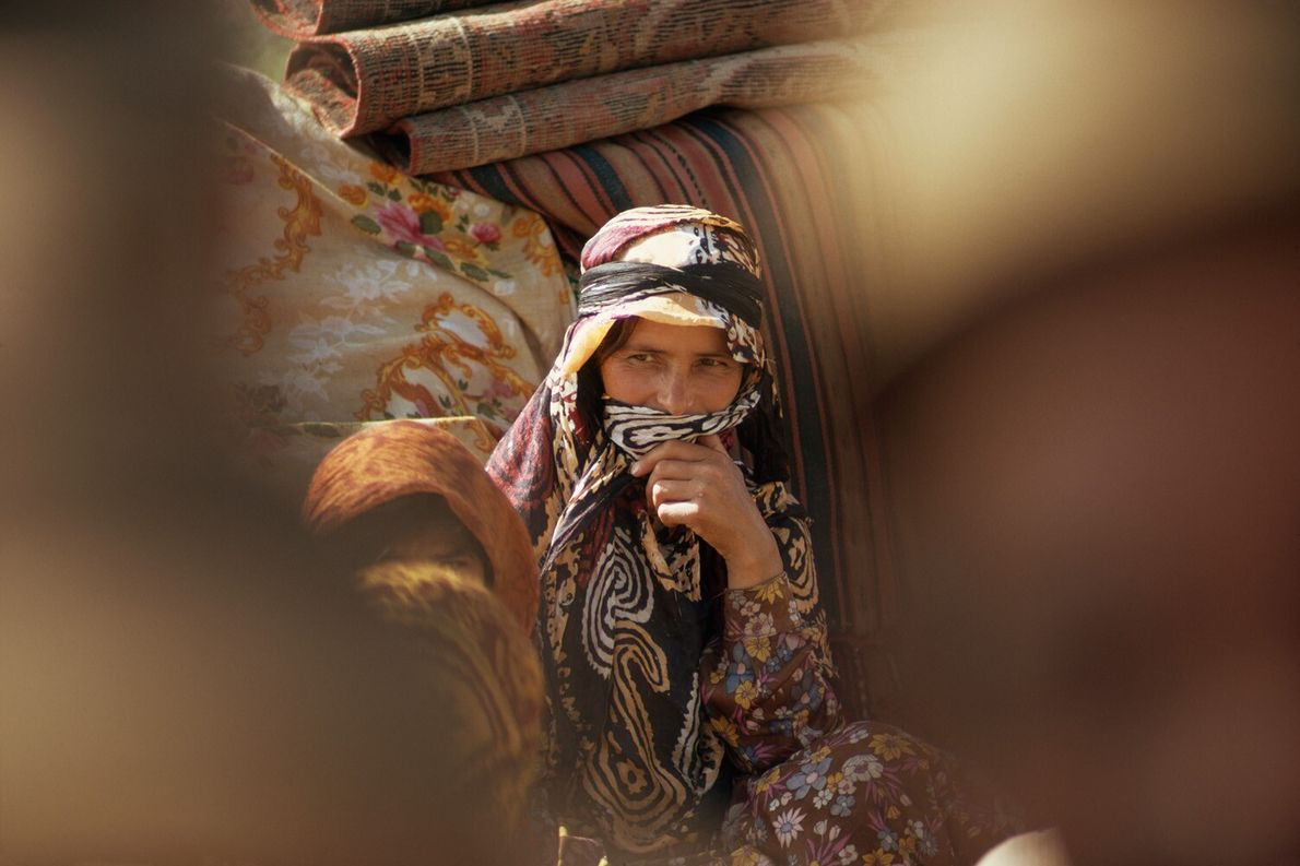 Una mujer shahsavan