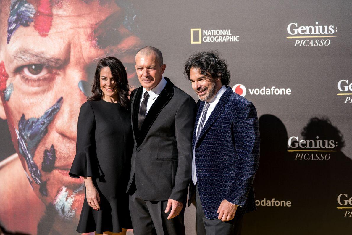 Antonio Banderas, Kenneth Biller y Courteney Monroe