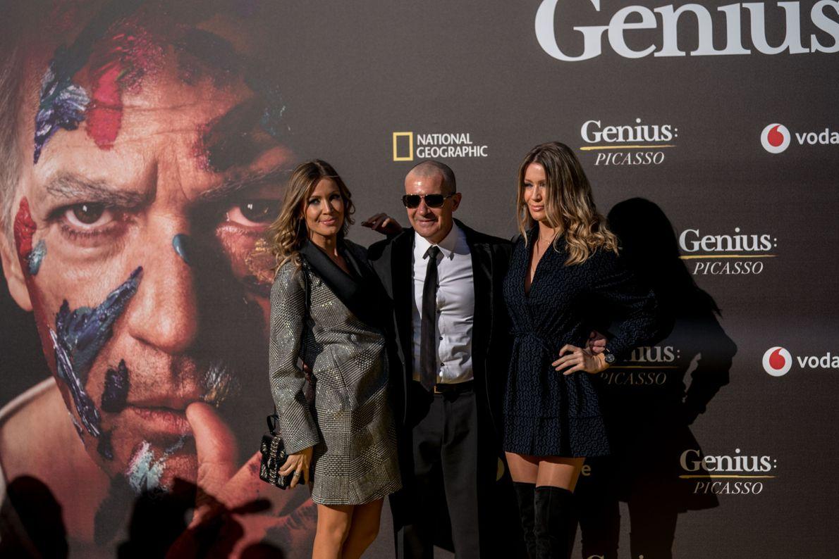 Nicole Kimpel, Antonio Banderas y Bárbara Kimpel