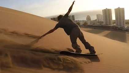VÍDEO: Surf sobre arena en Cerro Dragón, una duna de más de 300 metros