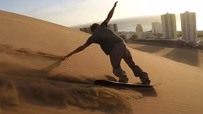 Un viaje diferente: haz surf sobre la duna de arena de cerro Dragón