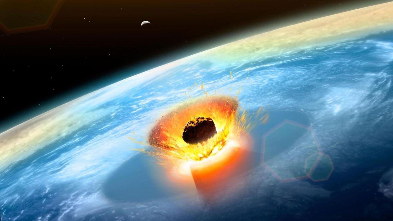 Asteroide fin era dinosaurio