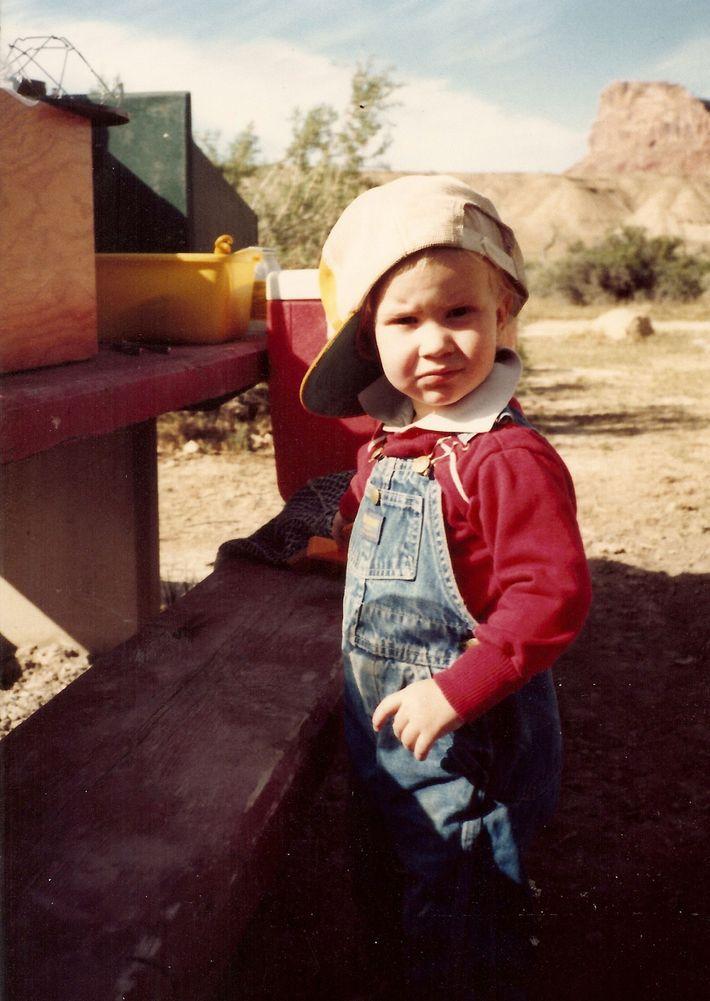 Cory Richards con 3 años