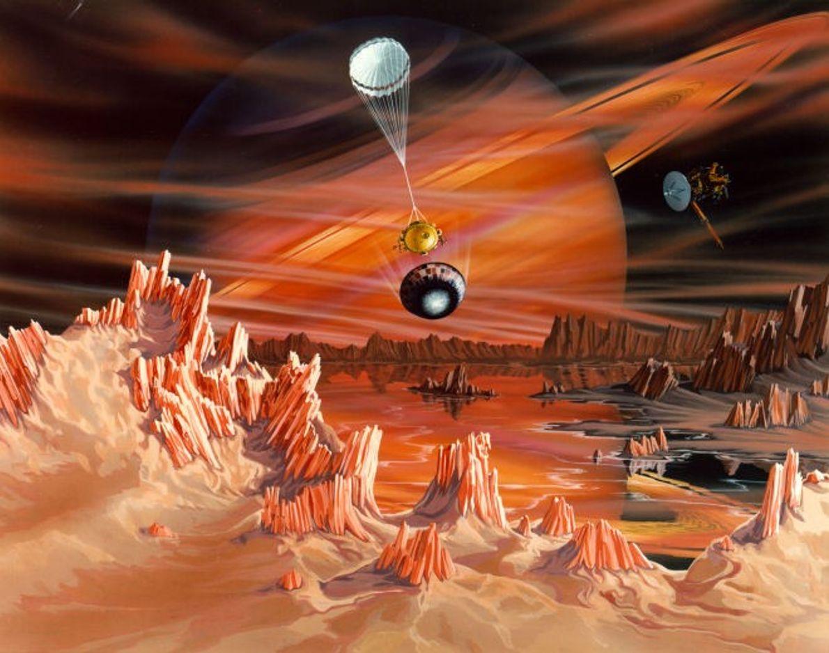 Concepto artístico de Titán