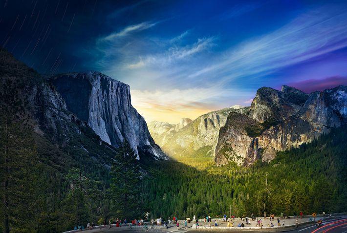 Yosemite, día y noche
