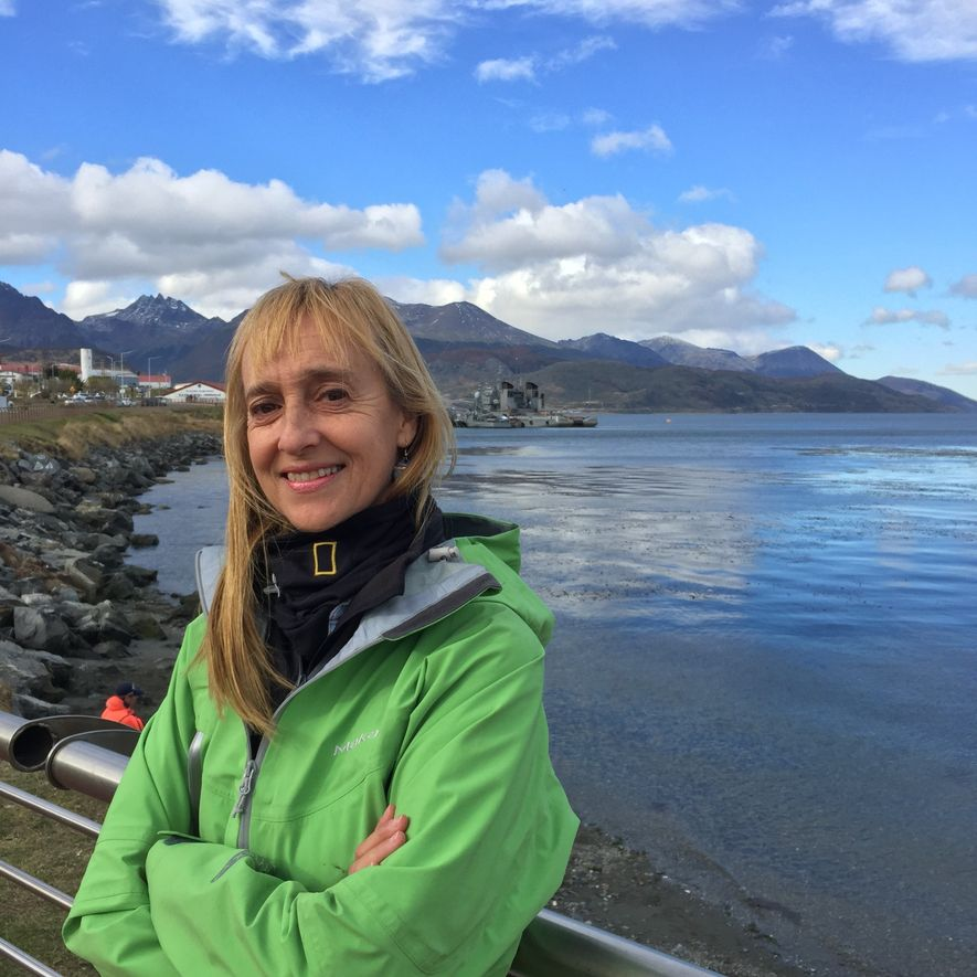 """La arqueóloga marina de National Geographic y descubridora del """"Purísima Concepción"""" Dolores Elkin."""
