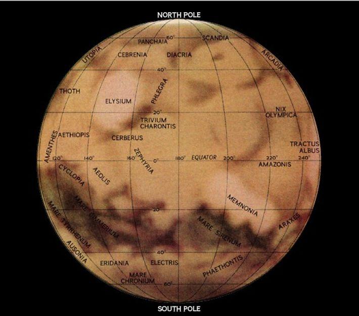 Hemisferio oriental de Marte, 1967