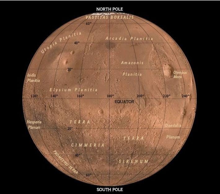 Hemisferio oriental de Marte, 2017