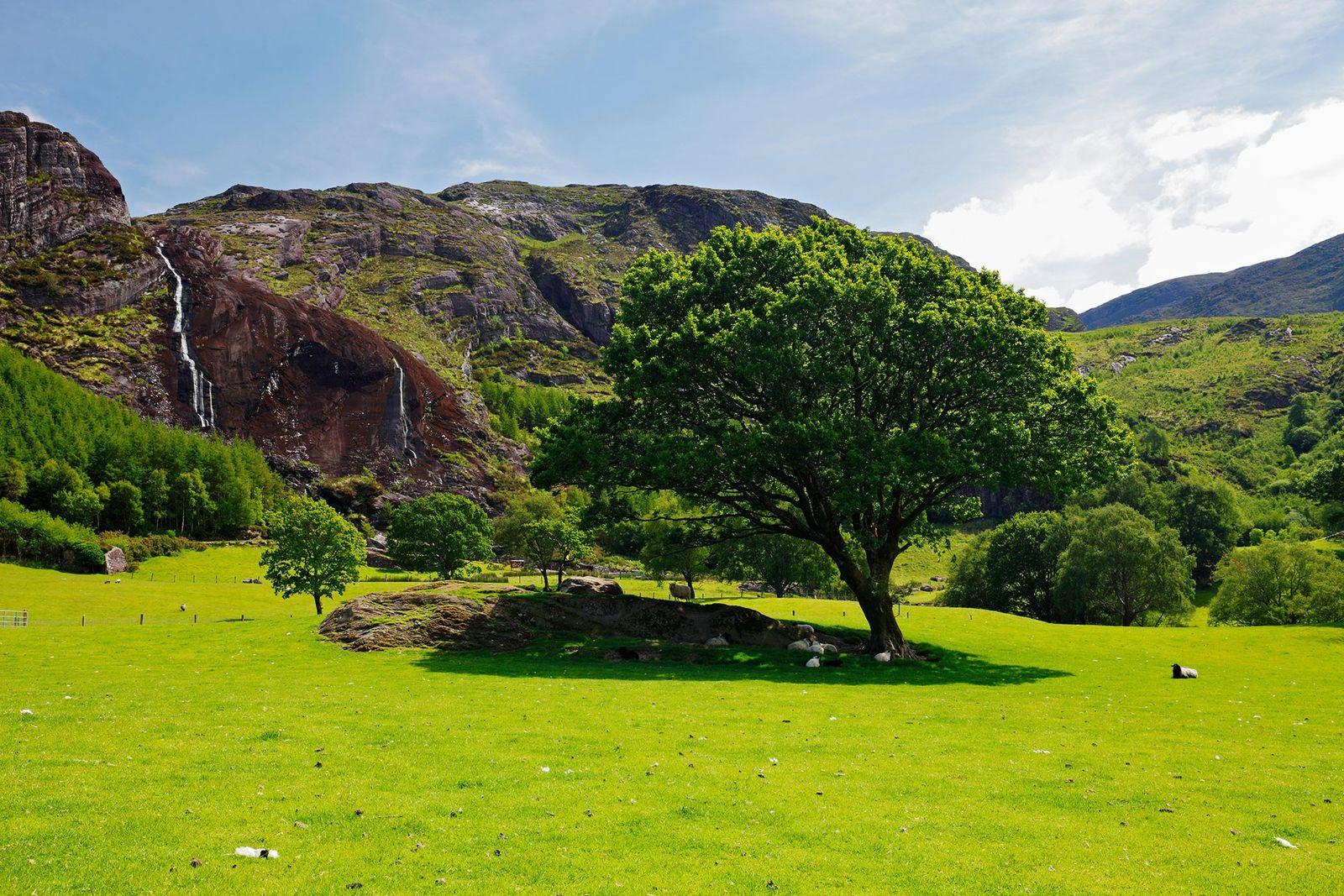 Imagen del Parque Gleninchaquin en la península de Beara cerca de Kenmare, condado de Kerry, Irlanda