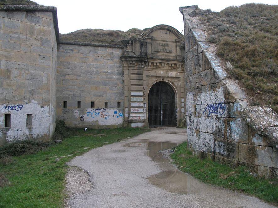Interior del fuerte de San Cristóbal.