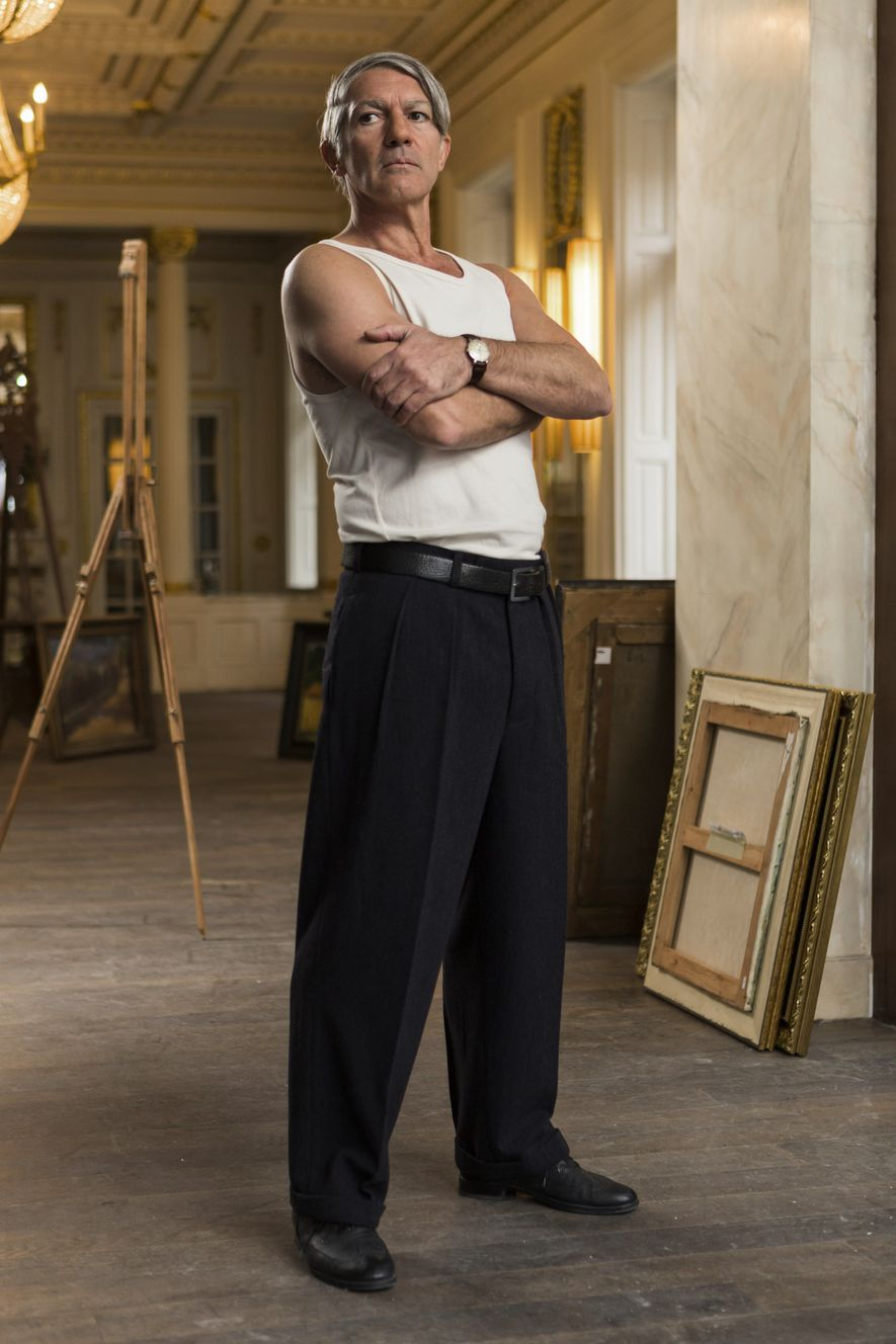 """Budapest, Hungría: Antonio Banderas interpreta a Pablo Picasso en la segunda temporada de la serie de National Geographic nominada a los Emmy """"Genius""""."""