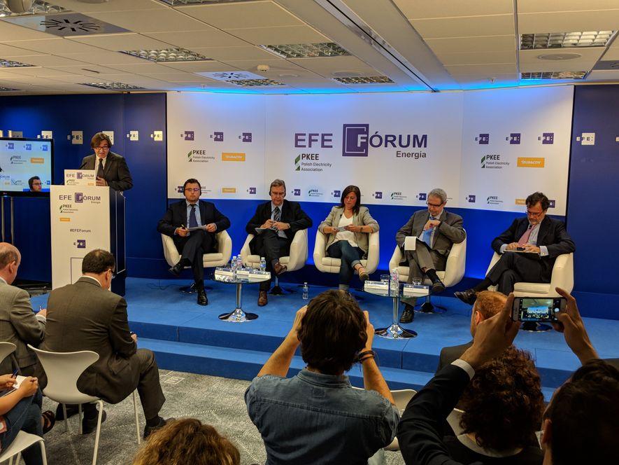 Panel internacional de expertos del sector compuesto por Filip Grzegorczyk, vicepresidente de la Polish Electricity Association; ...