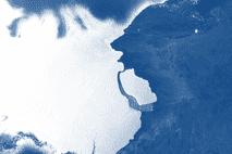 Desprendimiento Iceberg D28 Antartida