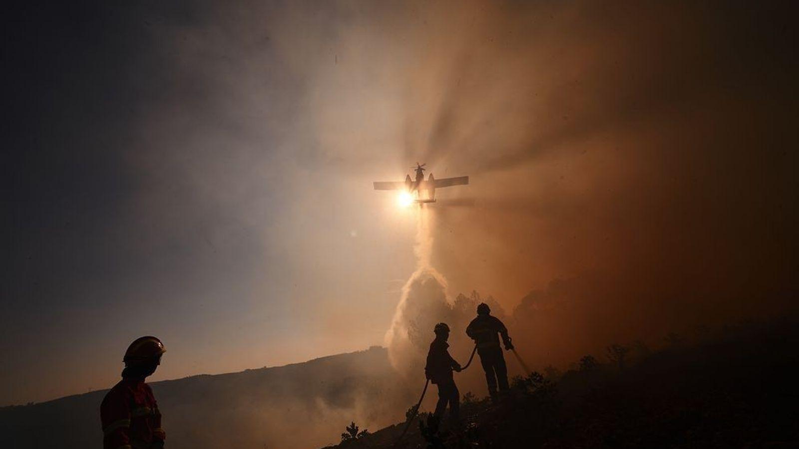 Incendio en Abrantes