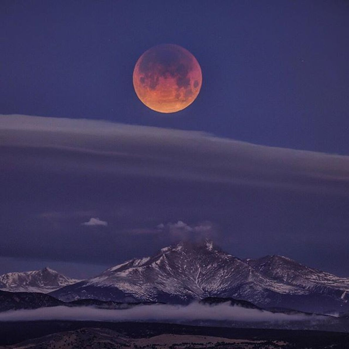 Eclipse de superluna azul de sangre