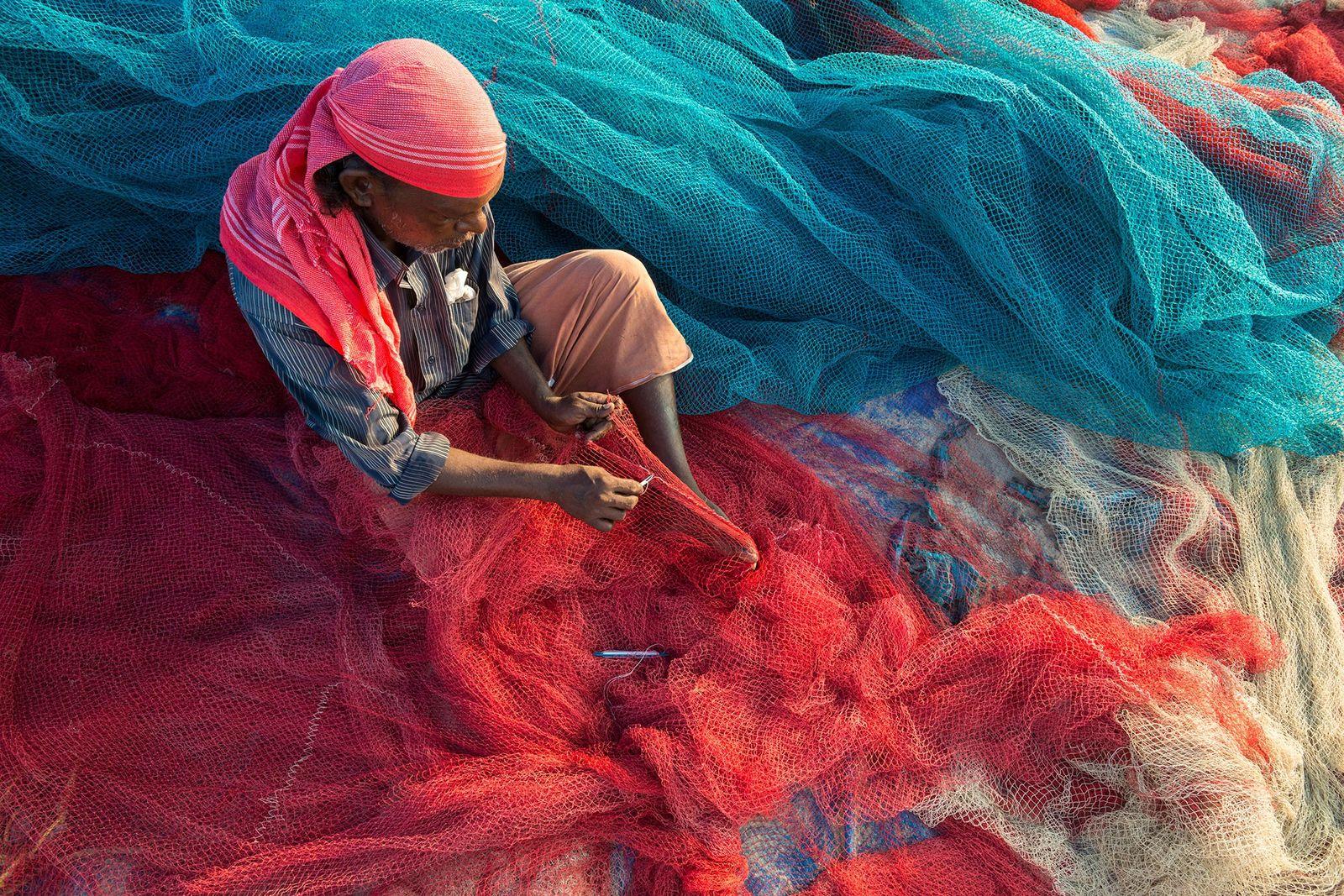 Un pescador de Kerala