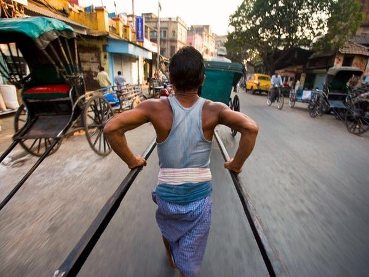 Rickshaws, Calcuta