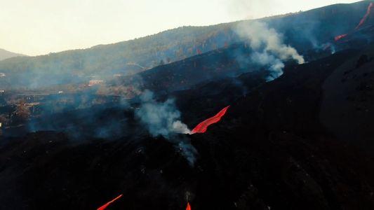 La destrucción de dos semanas de lava constante