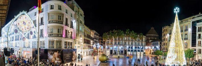 Alumbrado en Málaga