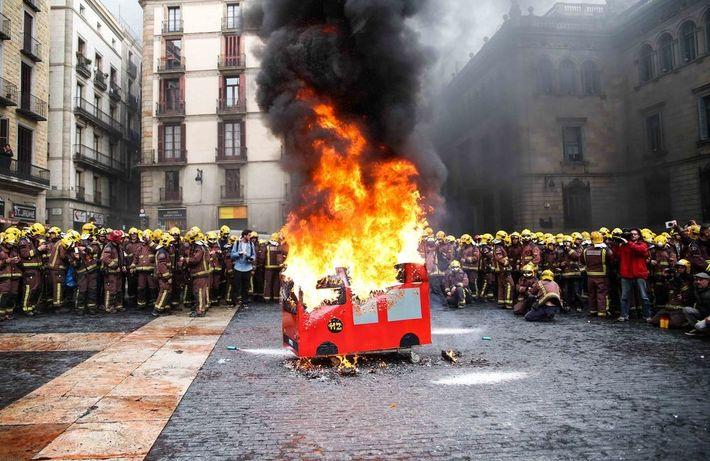 Los bomberos de Barcelona