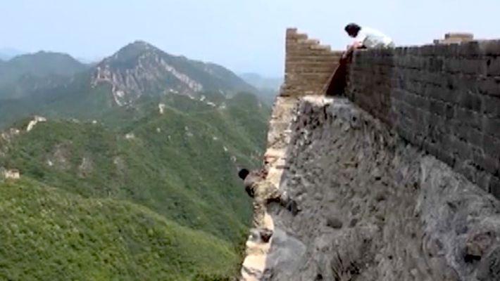 Restaurar la Gran Muralla China es un trabajo de alto riesgo