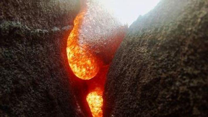 Una GoPro queda sumergida en lava pero sigue grabando