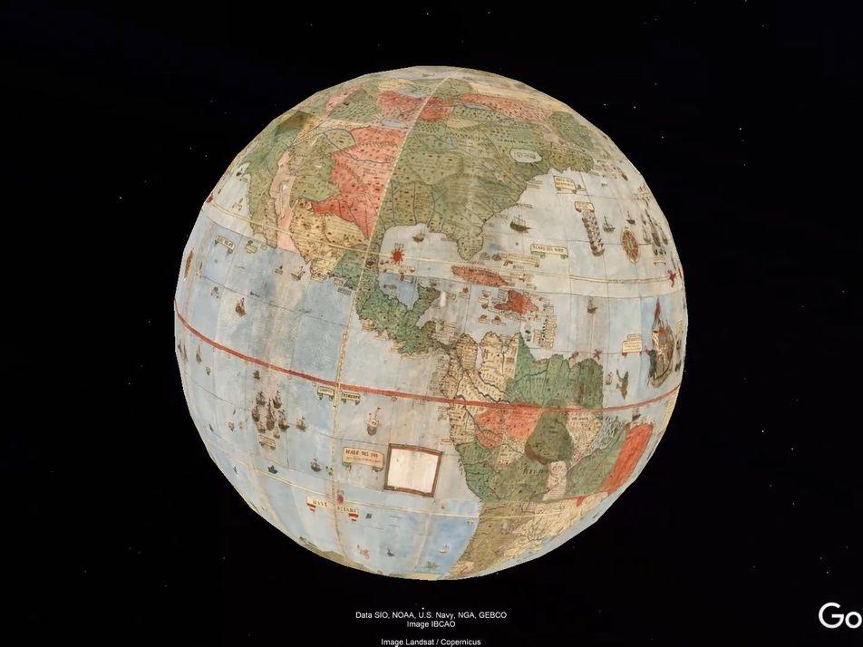 Unidas las 60 partes del mapamundi del siglo XVI de Urbano Monte: este es el resultado