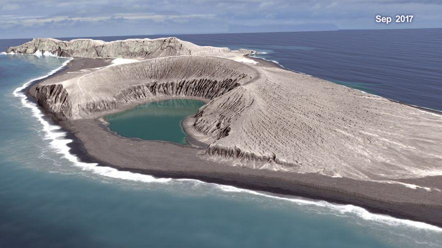 Una animación de la NASA muestra cómo se crea una isla a partir de una erupción ...