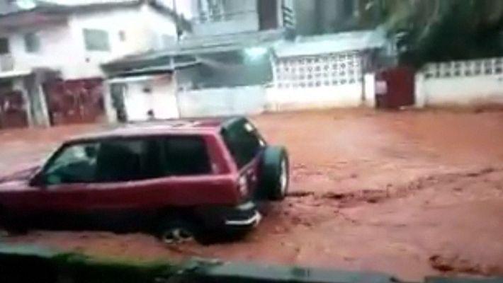 Las terribles imágenes del deslizamiento de tierra en Sierra Leona