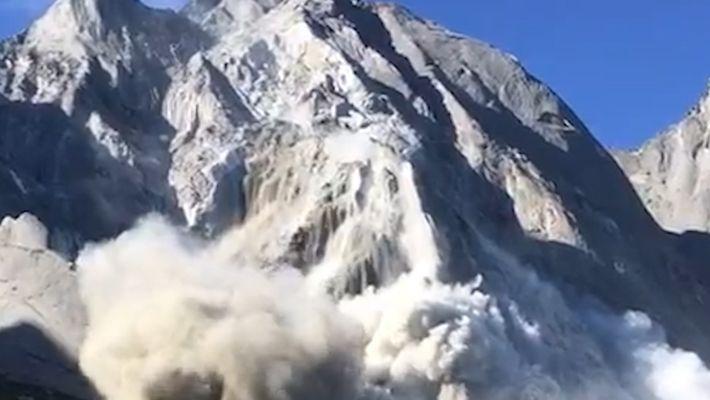 Millones de metros cúbicos de escombros desprendidos en una avalancha en una ciudad suiza
