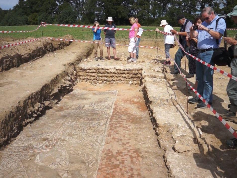 Un mosaico romano hallado en Inglaterra representa una escena del legendario Hércules