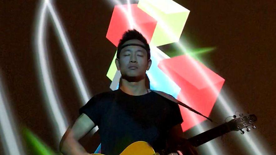 Este vídeo muestra ondas cerebrales proyectadas como arte en tiempo real
