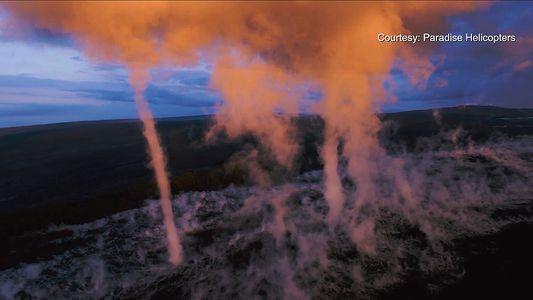 Inusuales tornados en el volcán hawaiano de Kilauea