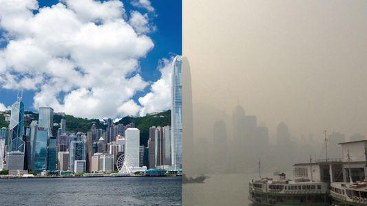 Hong Kong está envuelta en un humo asfixiante