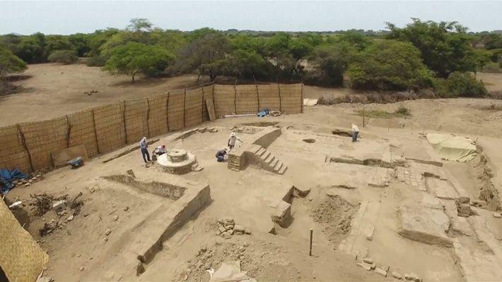 Descubierto un salón de banquetes peruano de 1.500 años de antigüedad