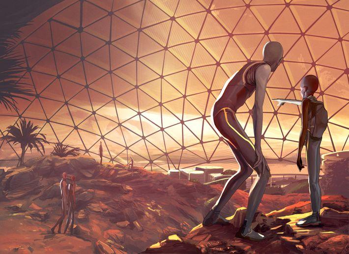 El futuro distante: adaptación al planeta rojo