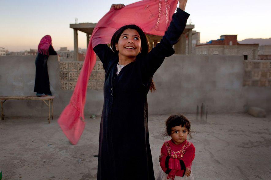 Nujooud Ali, dos años después del divorcio de su marido, con solo ocho años. Él era ...